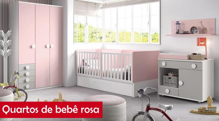 Fotos de quartos de bebê rosa