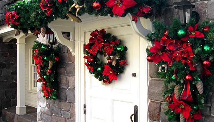 decoração de natal porta